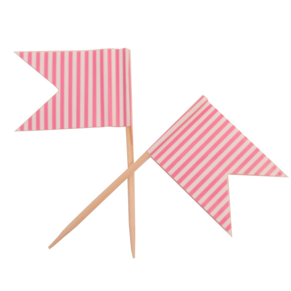 Pink Paper Flag Picks