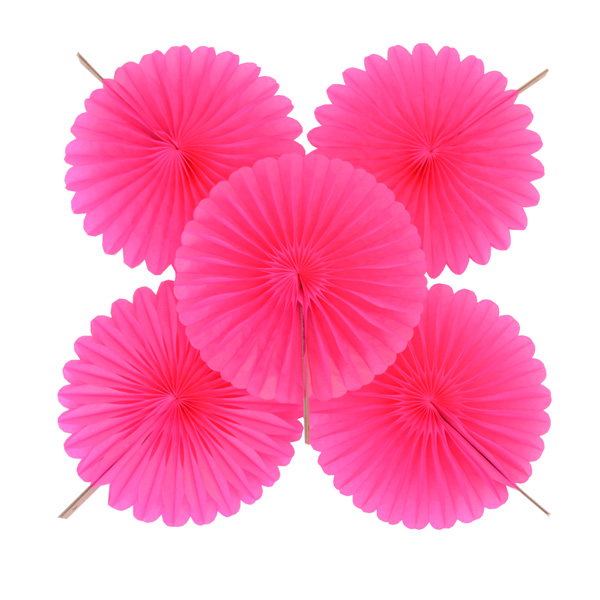 Hot Pink Fan Decorations