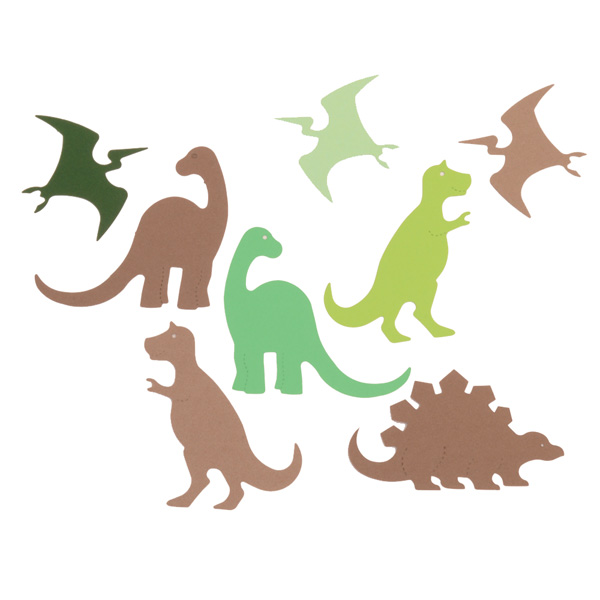 16 Dinosaur Card Shapes