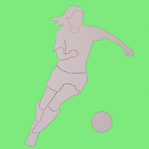Footballer and Ball Card Shapes
