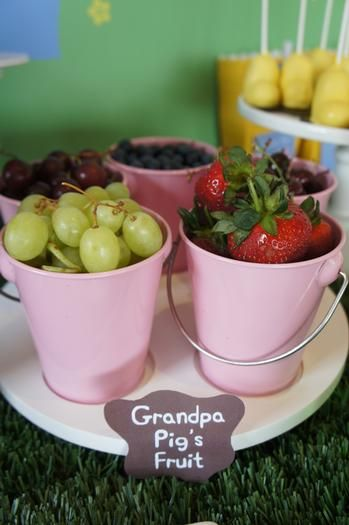 Grandpa pigs fruit