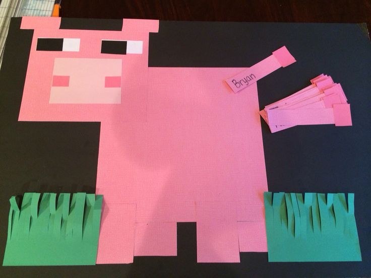 Minecraft pin the tail on the pig