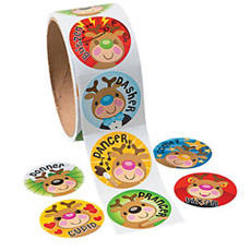 Rudolf-Sticker-Roll-230