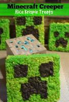 minecraft cakes rice crispy