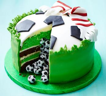 football pinata cake