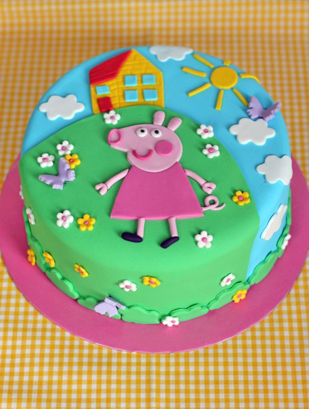 peppa birthday cake