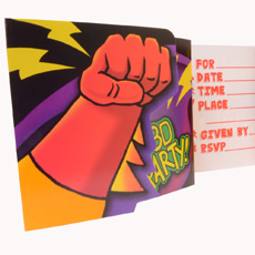 Superhero Fun Invitations
