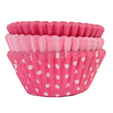 75 Cupcake cases Pink Selection
