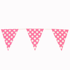pink spotty bunting
