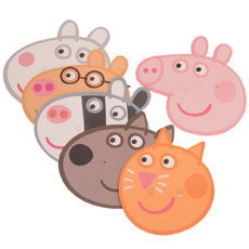 Peppa Pig and Friends Mask Set