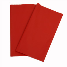 Red Plastic Table Cover