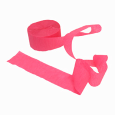 Crepe Streamer Hot Pink